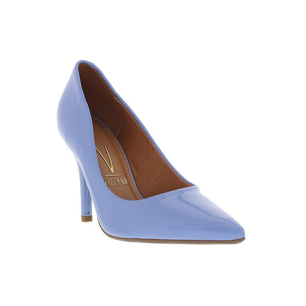 Vizzano 1184-1113 Pointy Toe Pump in Jeans Blue Patent