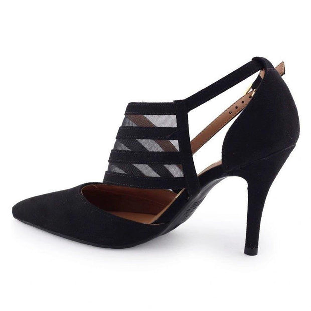 Vizzano 1184-1116 Pointy Toe Pump in Black Suede