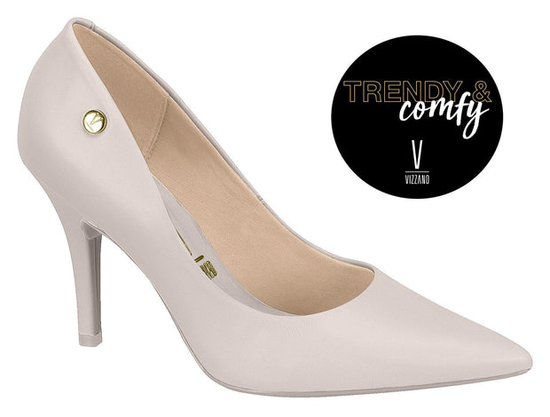 Vizzano 1184-1201 Pointy Toe Pump in Cream Napa