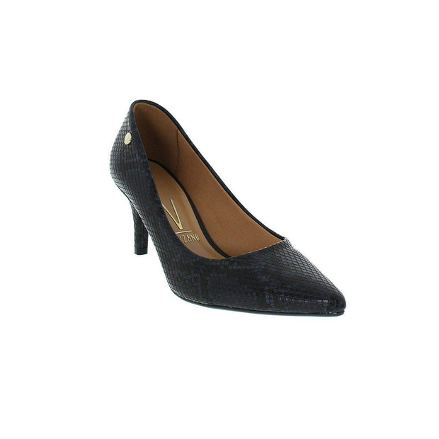 Vizzano 1185-102 Pointy Toe Pump in Black Cobra