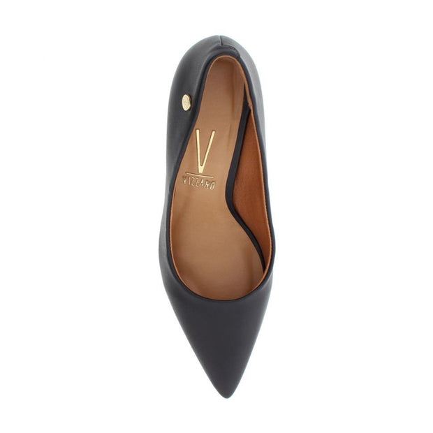 Vizzano 1185-102 Pointy Toe Pump in Black Napa