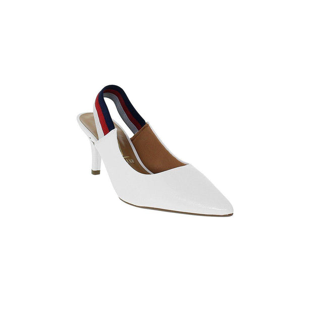 Vizzano 1185-175 Low Heel Slingback in White Patent