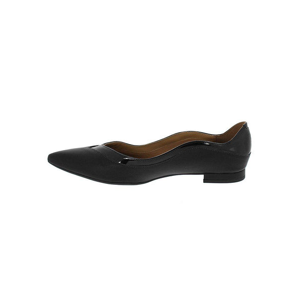 Vizzano 1206-250 Pointy Toe Flat in Black Napa