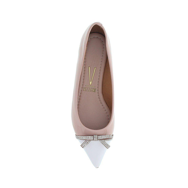 Vizzano 1206-253 Pointy Toe Flat in Pink Patent
