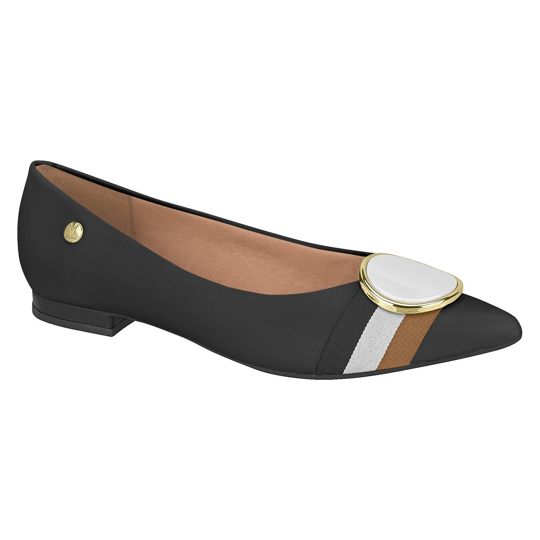 Vizzano 1206-262 Pointy Toe Flat in Black Napa