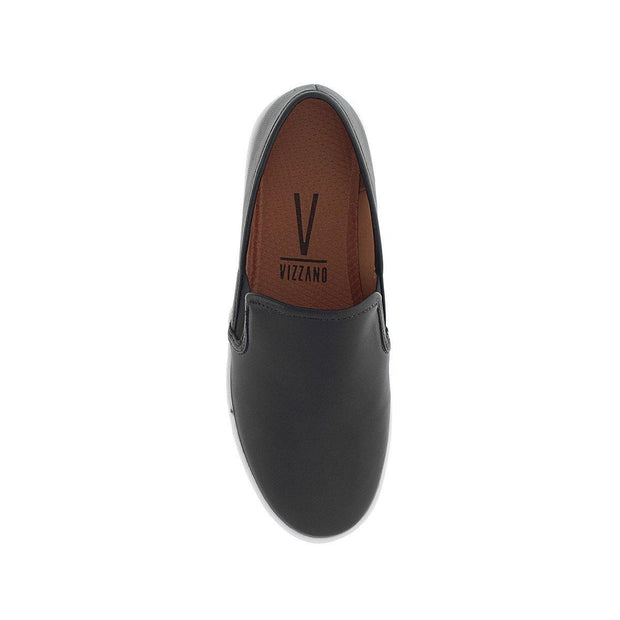 Vizzano 1214-200 White Sole Loafer in Black Napa