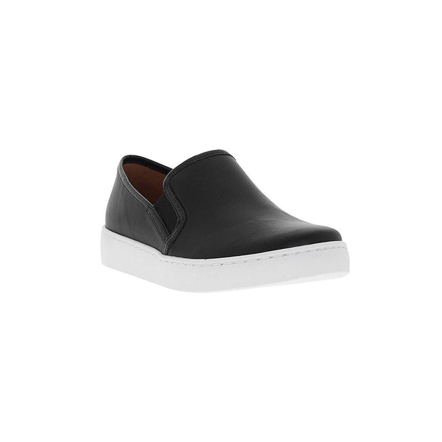 Vizzano 1214-200 White Sole Loafer in Black Napa Flats Vizzano