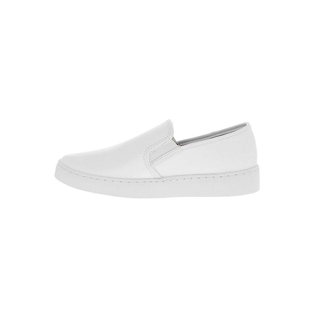 Vizzano 1214-200 White Sole Loafer in White Napa Flats Vizzano