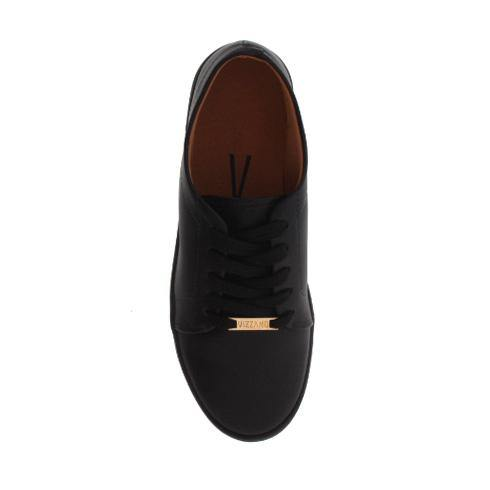 Vizzano 1214-205 Black Sole Sneaker in Black Napa