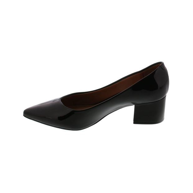 Vizzano 1220-224 Block Heel Pump in Black Patent