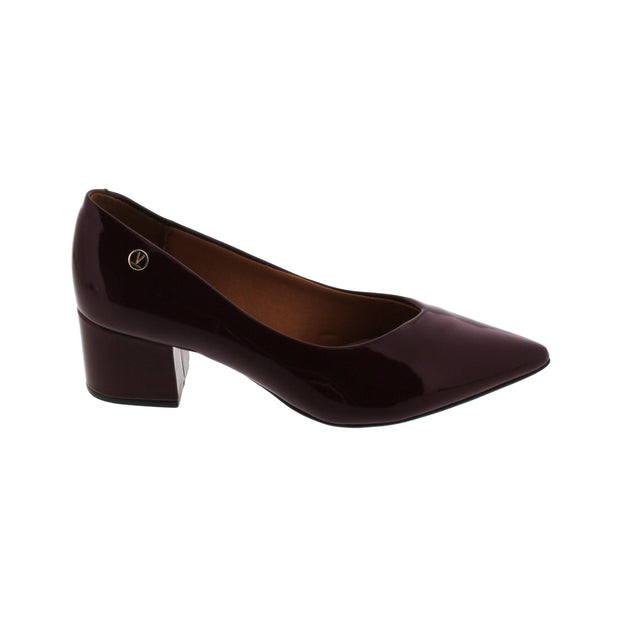 Vizzano 1220-224 Block Heel Pump in Wine Patent