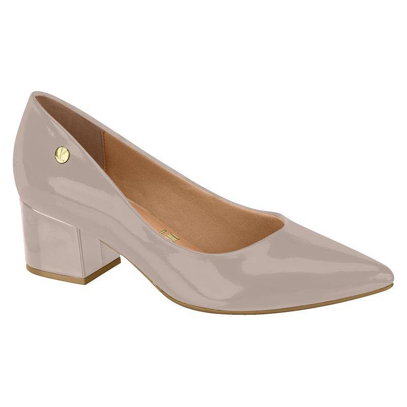 Vizzano 1220-315 Block Heel Pump in Grey Patent
