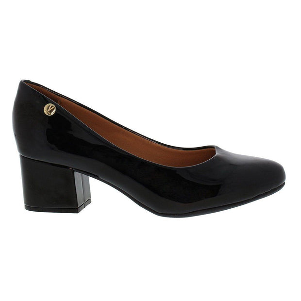 Vizzano 1258-100 Block Heel Round Toe in Black Patent