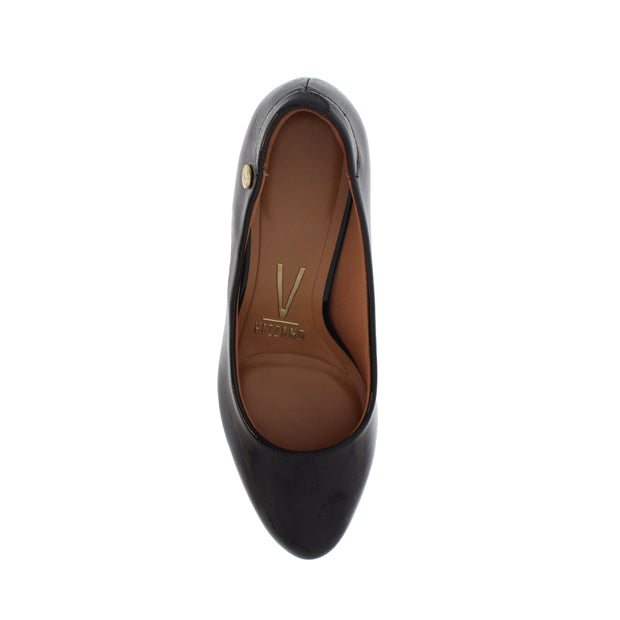 Vizzano 1288-300 Block Heel Round Toe in Black Patent