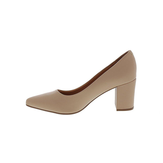 Vizzano 1290-400 Block Heel Pointy Toe in Beige Napa