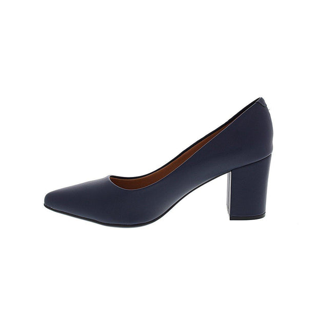 Vizzano 1290-400 Block Heel Pointy Toe in Navy Napa