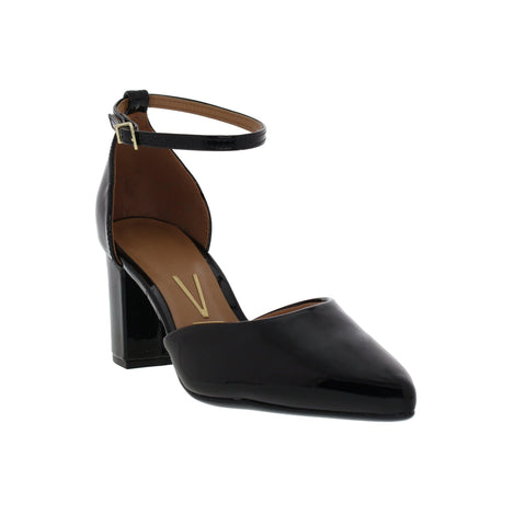Vizzano 1290-412 Strapped Block Heel in Black Patent