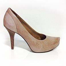 Ramarim 13-23101 Mid Heel Leather Pump in Chocolate