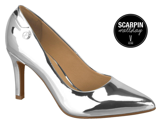 Vizzano 1321-100 Pointy Toe Pump in Silver