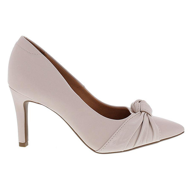 Vizzano 1321-102 Mid Heel Knotted Pump in Cream
