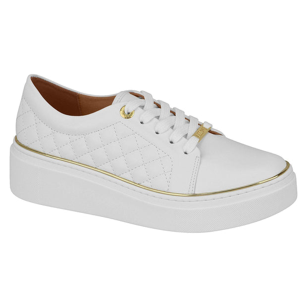 Vizzano 1339-202 White Sole Sneaker in White Napa