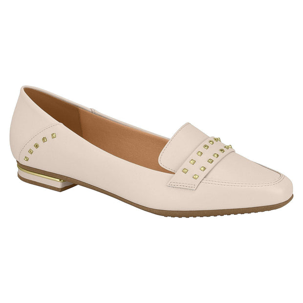 Vizzano 1345-103 Studded Flat Loafer in Cream Napa