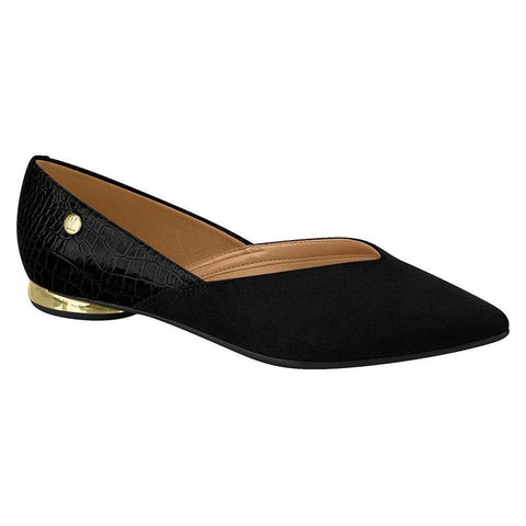Vizzano 1347-101 Pointy Toe Flat in Black