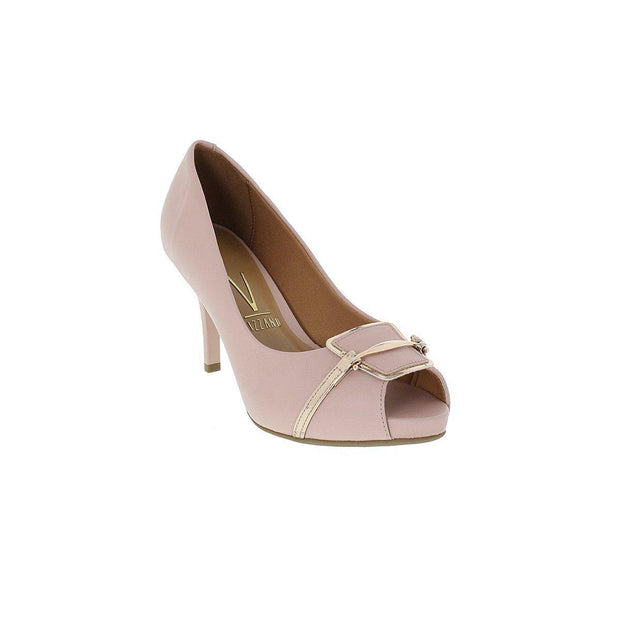 Vizzano 1781-467 Open Toe Pump in Pink Napa