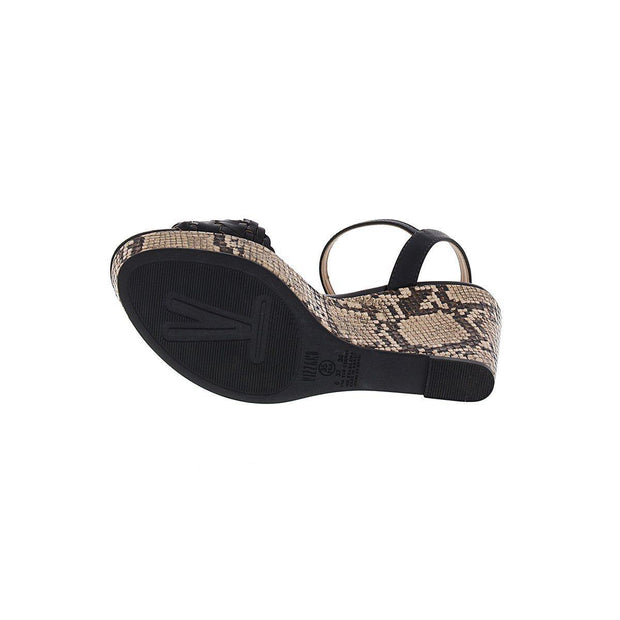Vizzano 1837-418 Wedge in Black Napa