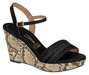 Vizzano 1837-418 Wedge in Black Napa Wedges Vizzano