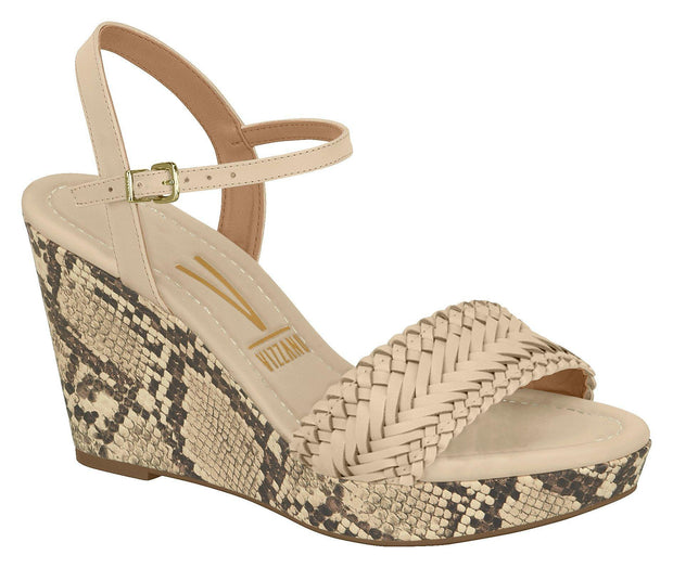 Vizzano 1837-418 Wedge in Beige Napa