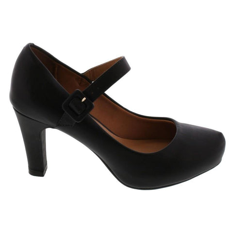 Vizzano 1840-303 Mary-Jane Pump in Black Napa