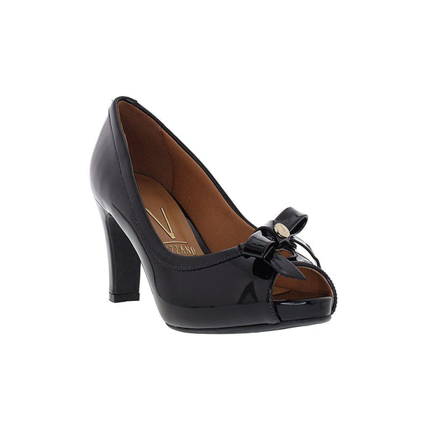 Vizzano 1840-112 Peep-toe Pump in Black Napa