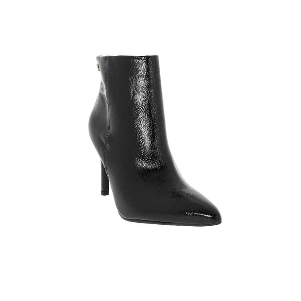 Vizzano 3049-219 Pointy Toe Stiletto Ankle Boot in Black Patent Boots Vizzano