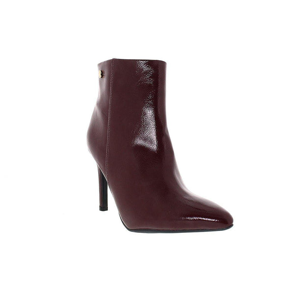 Vizzano 3049-219 Pointy Toe Stiletto Ankle Boot in Wine Patent