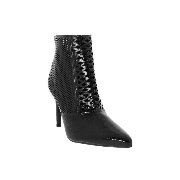 Vizzano 3049-227 Stiletto Ankle Boot in Black Patent