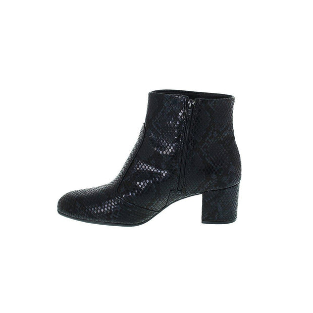Vizzano 3067-103 Low Heel Ankle Boot in Black Cobra