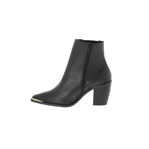 Vizzano 3070-101 Pointy Toe Ankle Boot in Black Napa