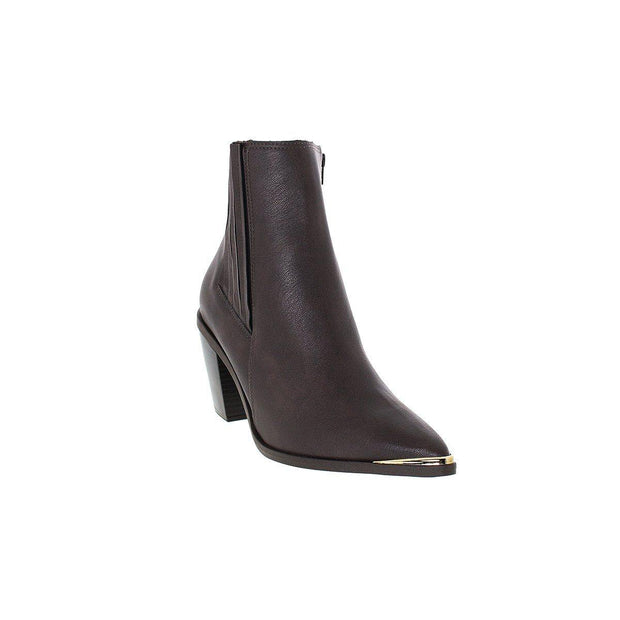 Vizzano 3070-101 Pointy Toe Ankle Boot in Coffee Napa