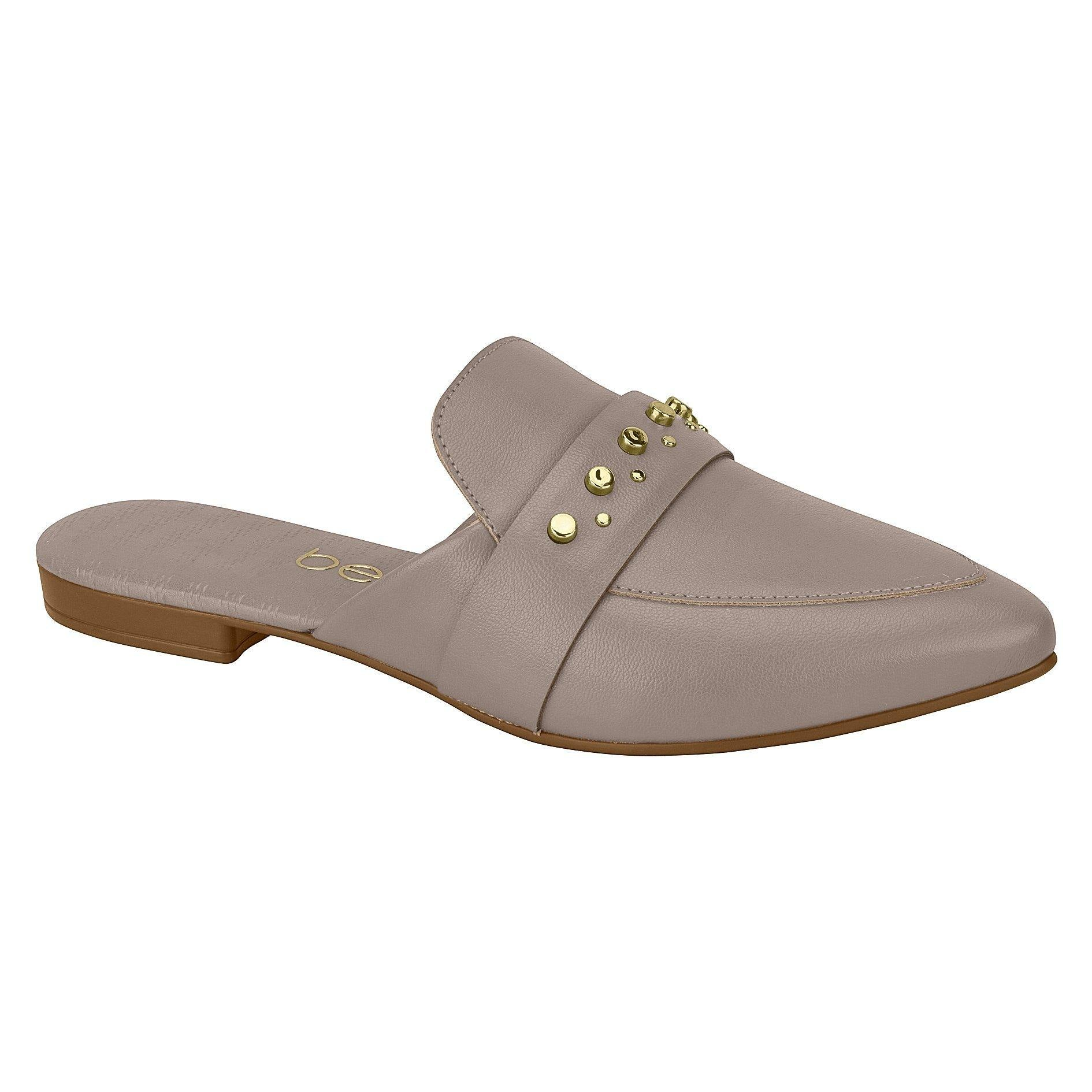 Beira Rio 4134-468 Pointy Toe Flat Mule in Grey Napa