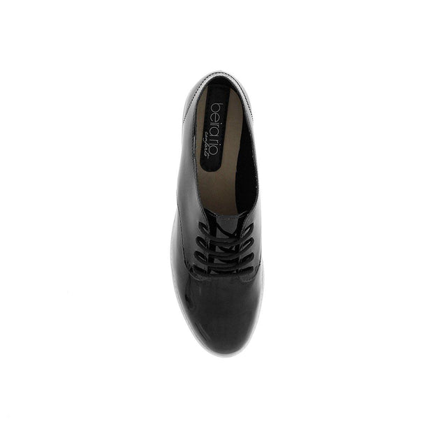 Beira Rio 4174-719 Brogue Flats in Black Patent