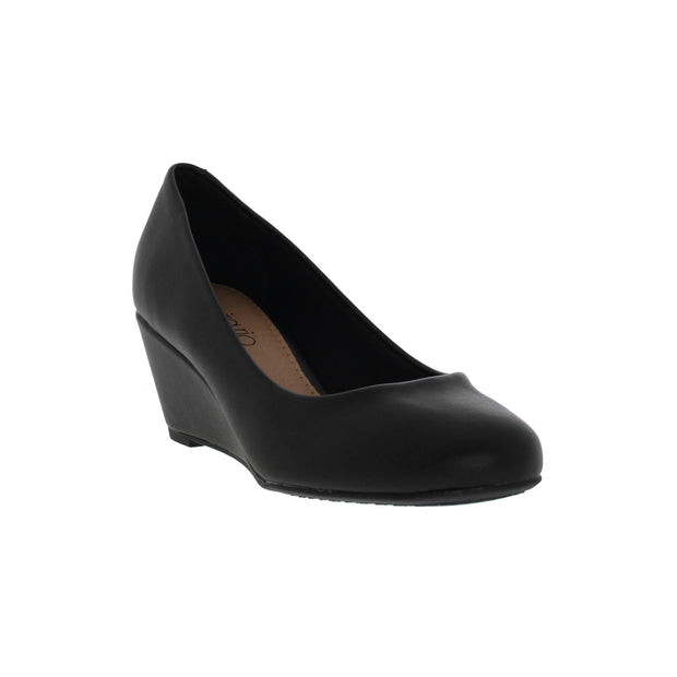Beira Rio 4791-400 Wedge in Black Napa
