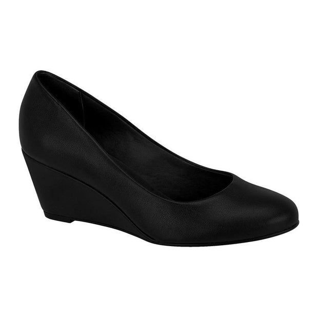 Beira Rio 4791-400 Wedge in Black Napa Wedges Beira Rio