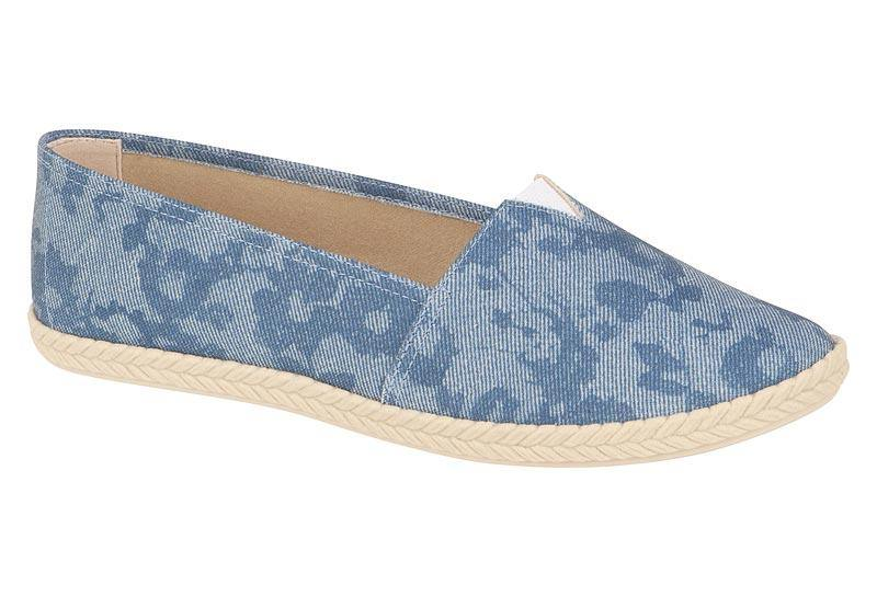 Moleca 5287-100 Canvas Flat in Blue