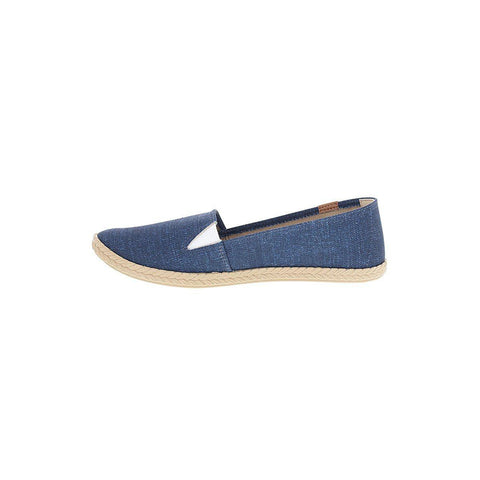 Moleca 5287-210 Slip-On Flat in Blue Denim Canvas