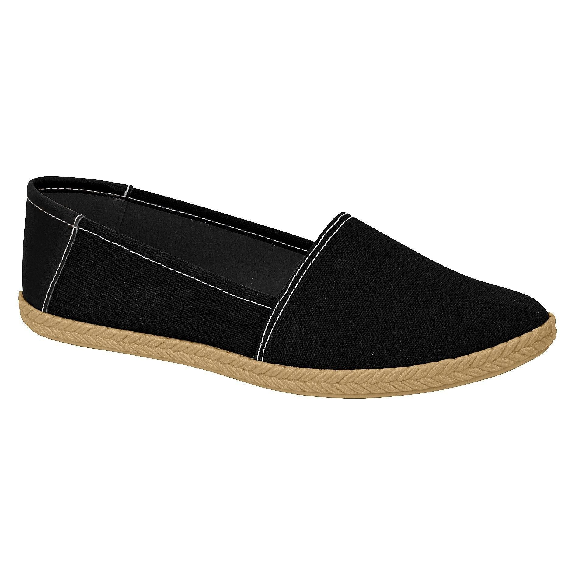 Moleca 5287-246 Canvas Flat in Black