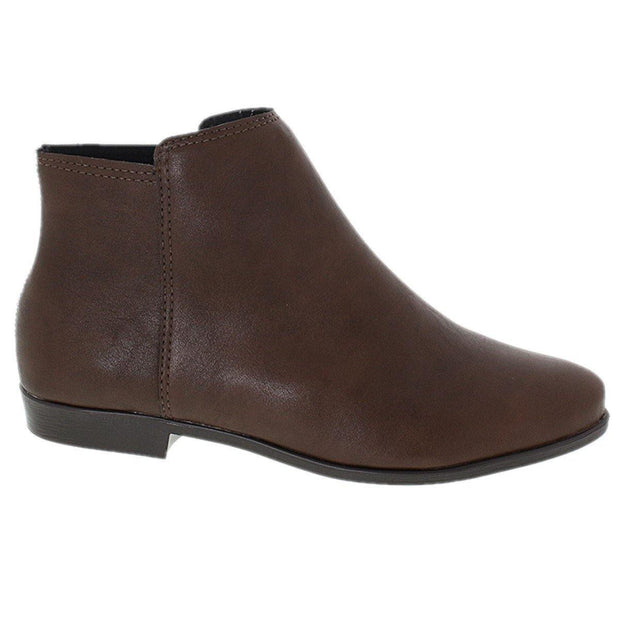 Moleca 5304-120 Flat Ankle Boots in Coffee Napa Boots Moleca