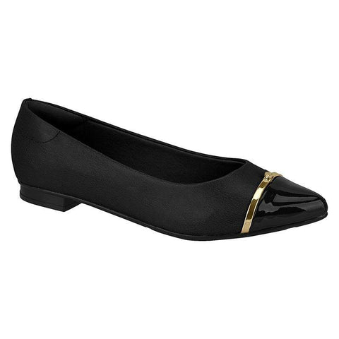 Moleca 5655-214 Pointy Toe Flat in Black