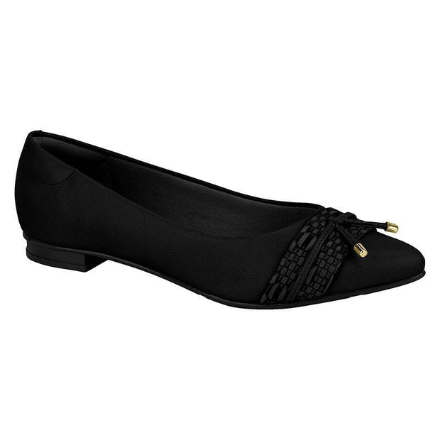 Moleca 5655-216 Pointy Toe Flat in Black