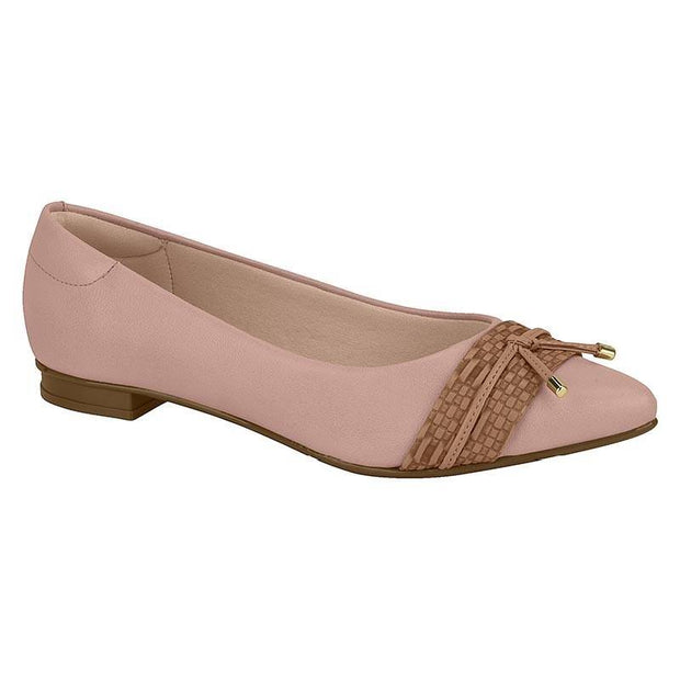 Moleca 5655-216 Pointy Toe Flat in Pink